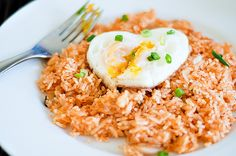 Kimchi Fried Rice...the heart shaped egg is a nice touch. Very yummy