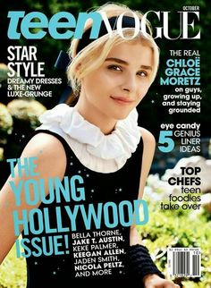 Chloe Grace Moretz is the cover girl of Teen Vogue October 2014 issue