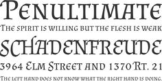 Witchy Harry Potter Font that we liked from Font Squirrel