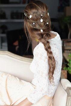 10 peinados de novia con cadenas-joya