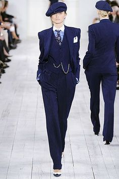 Women in men's tailored suiting. It reminds me of the zuit suit.