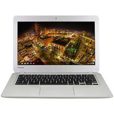 "Buy Toshiba CB30-B-104 Chromebook, Intel Celeron, 4GB RAM, 16GB SSD, 13.3"", Full HD, Silver Online at johnlewis.com"