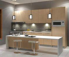 80 Latest Kitchen Furniture Design İdeas - Home Basic Kitchen, Design Your Kitchen, Narrow Kitchen, Kitchen Cabinet Design, Kitchen Cabinetry, Kitchen Sets, Home Decor Kitchen, Kitchen Flooring, Kitchen Furniture