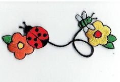 7//8 x 1+3//8 inch Embroidered Iron-On Applique Bumble Bee
