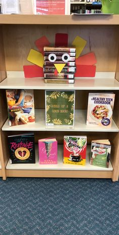Gobble up a good book! Check out the new Thanksgiving display in the teen space! Fall Library Displays, School Displays, Fall Displays, Middle School Libraries, Elementary Library, Books For 1st Graders, Thanksgiving Books, Thanksgiving Activities, Teen Library