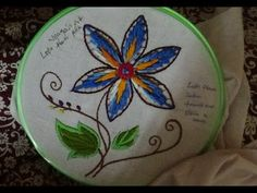 Hand Embroidery Designs # 162 - Zigzag flower Design - YouTube