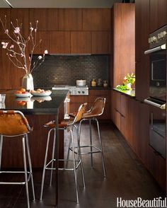 The colors used in this kitchen are absolutely stunning!  So earthy and comfortable.