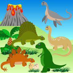 Imágenes Prediseñadas de dinosaurios Dino por DigitalDesignsAndArt