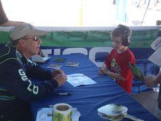 Tim Weber stunt pilot signing autographs