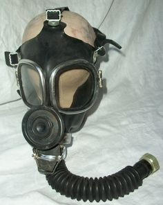 old Gas Mask With  | Vintage WEIRD ~ Costume - GAS MASK - Photo Prop - Creepy