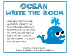 Ocean Life Write the Room Center