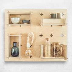 Bookcase Pegboard Modern Plywood Wall Peg Open Shelving