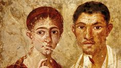 Portrait of baker Terentius Neo and his wife. Pompeii, AD 55–79. © DeAgostini/SuperStock.