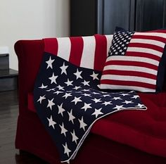 9cb325098179 Eco American Flag Blanket and Pillow