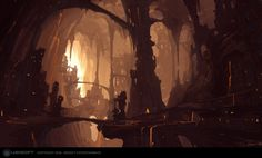 I would picture the Dark Lunarians having cities underground...unlike the moving cities of silver/light lunarians