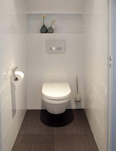 Space Saving Toilet Design for Small Bathroom - Home to Z Space Saving Toilet, Small Toilet Room, Guest Toilet, Downstairs Toilet, Toilet Closet, Bathroom Closet, Bathroom Toilets, Laundry In Bathroom, Bathroom Vanities
