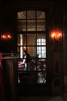 Looking through the windows of Cafe Pushkin by driftingepicure, via Flickr