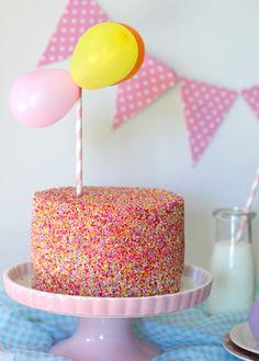 Sprinkle Cake http://butterheartssugar.blogspot.com.au/2013/02/sprinkle-cake.html