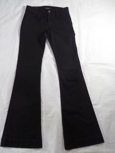 J BRAND low rise LOVE STORY bell bottom shadow black nwt women's jeans SIZE 25