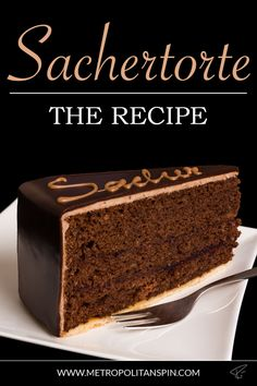 Sachertorte – The classic of the Viennese patisserie. It is delicious! Sachertorte – The classic of Viennese pastry. It's delicious! Austrian Desserts, Austrian Recipes, Sacher Cake Recipe, Chocolate Torte, Best Chocolate Cake, Sacher Torte Vienna, Pastel Sacher, Torte Au Chocolat, Cooking Tips