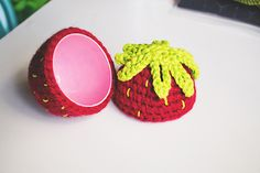 Transform a boring plastic Easter egg into a cute strawberry amigurumi with this free pattern by Good Knits!