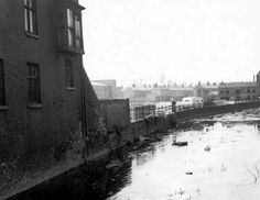 Denhams Foundry,centre right.Lavinia Swainston house centre of picture,police and fire station,to the centre left.1950s?