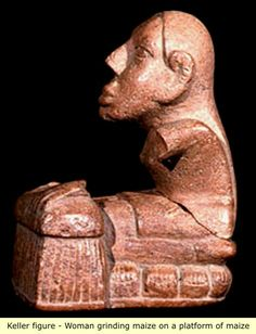 """Mississippian culture flint clay statue known as the """"Keller figurine"""", Cahokia Mounds vicinity, Illinois, USA"""