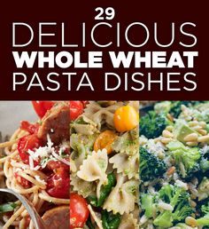 Eat Healthy 29 Delicious Whole Wheat Pasta Dishes - Because I'm getting tired of rotini, marinara, and mushrooms. - Even when you're eating healthy sometimes you NEED PASTA. Giada De Laurentiis, Clean Eating, Healthy Eating, Healthy Pastas, Healthy Recipes, Healthy Foods, Easy Recipes, Caprese Pasta, Whole Wheat Pasta