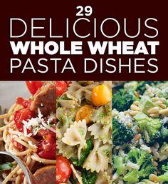 29 Delicious Whole Wheat Pasta Dishes - Because I'm getting tired of rotini, marinara, and mushrooms. Giada De Laurentiis, Wrap Recipes, Dinner Recipes, Easy Recipes, Healthy Pastas, Healthy Recipes, Healthy Foods, Lemon Spaghetti, Caprese Pasta