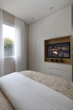 Bedroom wardrobe - Different Electronic Gadgets Bedroom Built In Wardrobe, Bedroom Built Ins, Bedroom Closet Design, Tv In Bedroom, Modern Bedroom, Bedroom Decor, Tv In Wardrobe, Condo Bedroom, Closet Built Ins
