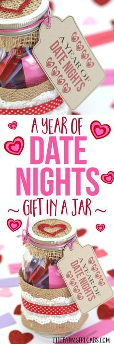 Looking for a fun gift idea to give to your spouse or partner? This Date Night In A Jar has a lot of fun date ideas for every budget!