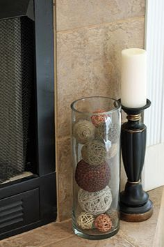 everyday fireplace mantel decorating ideas - Google Search                                                                                                                                                                                 More