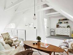 Woonkamer Op Zolder : Witte woonkamer op zolder zolder zolder speelhoek