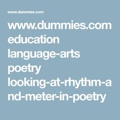 Poems For Dummies 7