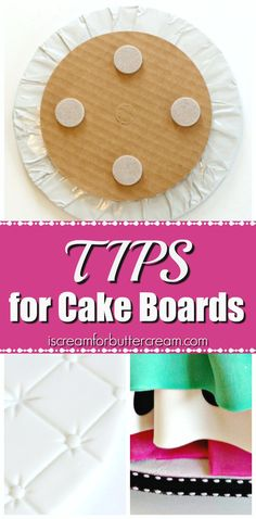 I like to think of cake boards as the jewelry of your wardrobe. It's not to outshine everything, but it definitely adds the finishing touch.