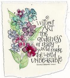 Art du Jour by Martha Lever: watercolor flowers