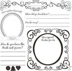 Diy Wedding Guestbook Templates This Is The Front Of Our Page Personal