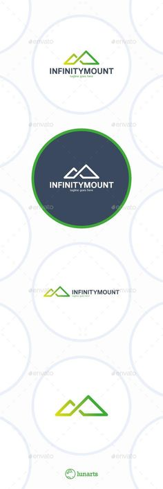 Infinity Mountain Logo - Triangle: Abstract Logo Design Template created by lunarts_studio. Berg Logos, Triangle Logo, Triangle Vector, Invitation Mockup, Music Themed Parties, Black And White Logos, Mountain Logos, Flower Logo, Music Logo