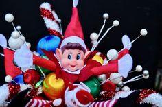 Christmas Elf, Elf On The Shelf, Bouquet, Holiday Decor, Home Decor, Homemade Home Decor, Bouquet Of Flowers, Bouquets, Interior Design