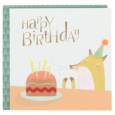 paperchase-mr fox candles card