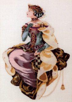 Amazon.com: Mirabilia Autumn Queen Cross Stitch Pattern: Home & Kitchen