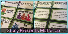 FREE Story Elements Match Up Game!