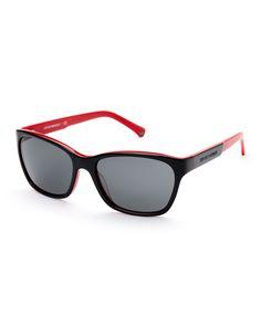 56a38e9276 Emporio Armani Black   Red EA 4004 Square Sunglasses Emporio Armani