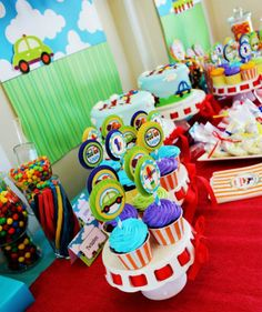 Transportation Birthday Party Theme Car Truck tractor trainon anything withthough wheels Boy think madden would love it just have to add Fire Trucks