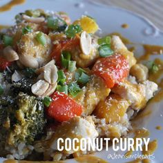 """""""Curry dishes used to scare me, until I realized how easy they can be! It is such a comfort food for me in these winter months! You'll need: 1 lb chicken or shrimp Clean Eating Recipes, Healthy Eating, Cooking Recipes, Healthy Recipes, Eating Clean, Clean Simple Eats, Coconut Milk, Coconut Curry, Clean Dinners"""