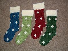 granny square C'mas stockings