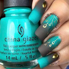 """ Matte Gradient  #naillovers #diseñodeuñas #esmalte #stamping #nailartwow #nailstodiefor…"""