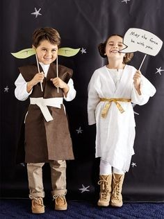 Star Wars Photo Booth Props: Yoda Ears and Leia Buns