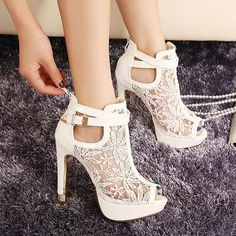 White Lace Heels ▶suggested by ~Sophistic Flair~