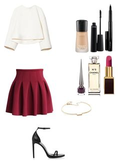 """""""Untitled"""" by taif65 ❤ liked on Polyvore featuring Marni, Chicwish, Yves Saint Laurent, blanca monrós gómez, Tom Ford, MAC Cosmetics, Chanel and Christian Louboutin"""